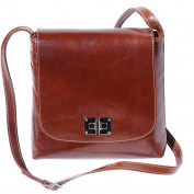 Medium flat leather bag 6546