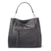 TJ Collection Women's Cracked-Leather Boho Bag Barcelona