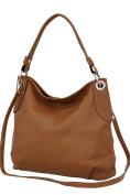 AMBRA Moda Women's Handbag Genuine Leather Bag Shoulder Bag Shopper GL012
