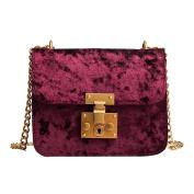 Women's Shoulder Bag, Xinantime Messenger Bags Tote Handbag Retro Gold Velvet Bag