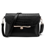 Great Strange Female Pack Shoulder Bag Leather pattern Pu Handbag Messenger Bag Fashion Multiple colours Work Shopping Tourism , black