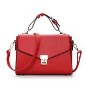 Great Strange Ladies Fashion Slant small square bag Sweet Lady Single Shoulder Handbag Multi-Compartment Bag , red