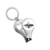 Kuala Lumpur Malaysia Ink City Metal Key Chain Ring Multi-function Nail Clippers Bottle Opener Car Keychain Best Charm Gift
