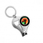 Mount Corcovado Palm Welcom to Brazil Slogan Brazil Cultural Element Metal Key Chain Ring Multi-function Nail Clippers Bottle Opener Car Keychain Best Charm Gift