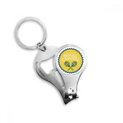 Instrument Celebrate Brazil Carnival Round Slogan Brazil Cultural Metal Key Chain Ring Multi-function Nail Clippers Bottle Opener Car Keychain Best Charm Gift