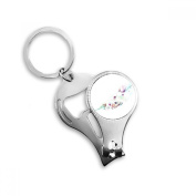 Leaf Fire Balloon Hat Camera Watercolour Painting Metal Key Chain Ring Multi-function Nail Clippers Bottle Opener Car Keychain Best Charm Gift
