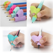 6PCS/Set Pencil Grip,Malloom 2017 Children Pen Writing Aid Grip Posture Correction Tool Pencil Holder
