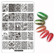 HKFV Creative Attractive Charming Party DIY Nail Art Image Stamp Stamping Plates Manicure Template