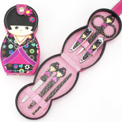 IGEMY 6 Pcs Set Japanese Doll Nail Care Clipper Manicure Pedicure