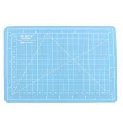 DealMux Non Slip Self Healing Grid Lines Board A5 Cutting Mat 15 x 22cm Blue