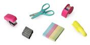 NPW Mini School Stationery Stapler Scissors Set - Mini Office Tool Kit Note To Self