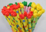 Paper Scissors Rock Handy Janken Pencil. Assorted Colours. 3 Pack