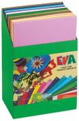 faibo 655exp Stand – 120 sheets of Eva Rubber, 40 x 60 cm, Multi-Colour