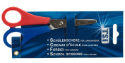 TSI 41527 Student Scissors With Rounded Tips Left Handed with Scale 13 cm/5 cm Assorted Colours