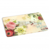 A Ting Large Tempered Glass Cutting Board Vintage Fruit 46cm x 30cm