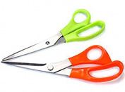 SMARTSTORE 2 x STAINLESS STEEL SCISSORS -Kitchen, Multi Purpose, Household, Crafts & Sewing, Dressmaking Scissors