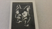 12 x French bulldog dog face stencils for etching on glass hobby craft Frenchie