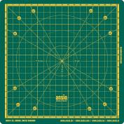 ANSIO Self Healing Rotating Cutting Mat with Metric - 20 X 20 CM - Green