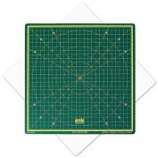 Rotatable Cutting Mat 33cm x 33cm Self Healing Imperial - Green