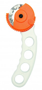 Rico Design Roll Cutter, incl. 3 Blades, White Orange