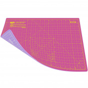 ANSIO A3 Double Sided Self Healing 5 Layers Cutting Mat Imperial/Metric 16 Inch x 10 Inch / 43cmx 28cm - Super Pink / Lavender Purple