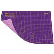 ANSIO A3 Double Sided Self Healing 5 Layers Cutting Mat Imperial/Metric 16 Inch x 10 Inch / 43cmx 28cm - Royal Purple / Carnation Pink
