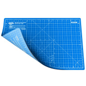 ANSIO A3 Double Sided Self Healing 5 Layers Cutting Mat Imperial/Metric 16 Inch x 10 Inch / 43cmx 28cm - True Blue / Sky Blue