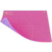 ANSIO A2 Double Sided Self Healing 5 Layers Cutting Mat Imperial/Metric 22 Inch x 16 Inch / 43 cm x 58 cm - Super Pink / Lavender Purple