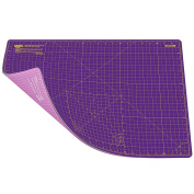 ANSIO A2 Double Sided Self Healing 5 Layers Cutting Mat Imperial/Metric 22 Inch x 16 Inch / 43cmx 58cm - Royal Purple / Carnation Pink
