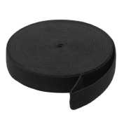 DealMux Household 12M Length Stretchy Elastic Band Roll Black 24mm Wide