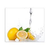 Hob Covers with Knobs Set of 2 Chopping Board Lemon