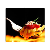 Hob Covers with Knobs Set of 2 Chopping Board Pasta