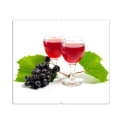Hob Covers with Knobs Set of 2 Chopping Board Wine