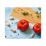 Hob Covers with Knobs Set of 2 Chopping Board Tomatoes
