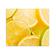 Hob Covers with Knobs Set of 2 Chopping Board Lemon Lime