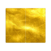 Stove Cover Plates with Gold Knobs Set of 2 Cutting Board