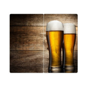 Hob Covers with Knobs Set of 2 Chopping Board Beer