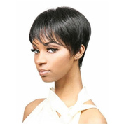 MENRY Womens Short Wavy Black Short Pixie Cut Wig Black Hair Wigs