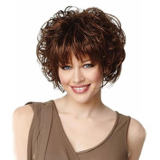 MENRY Full Short Womens Curly Dark Brown synthetic Wigs