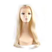 MENRY Lady Straight Lace Front Wig White Blonde Synthetic Full Wig