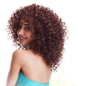 MENRY Afro Kinky Curly Kanekalon Light Brown Hair Wigs for Women