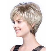 MENRY Short Curly wig Natural Blond Women Synthetic Hair wigs