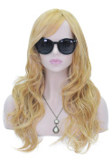 Long Curly Wavy Cosplay Wigs for Women Full Head Deep Yellow Orange Hair Cosplay Lolita Party Wig + Free Wig Cap and Comb