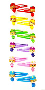 12 Hairpins (Clip) Metal Multicolor Design Doll Movable (4.5 x 2.5 cms) High Quality