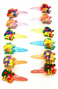 12 Hairpins (Clips) Multicolor Design Gnome with Mushroom (Bisuteria) High Quality