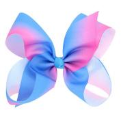 Sukisuki Rainbow Bowknot Girls Hair Clips Hairpins Grosgrain Ribbon Headband Hair Accessories