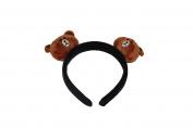 GIZZY® Girls Teddy Bears on Wide Headband.
