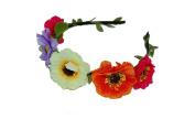 GIZZY® Girls Multi Coloured Flowers on Headband.