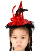 Cheerlife Girls Bat Headband Witch Hat Headdress Halloween Fancy Dress Costume Halloween Costume Accessory