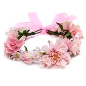 Flower Crown Headband Floral Headpiece-Sansee Handmade Flower Garland Halo For Wedding photography Flower Wreath Decorations